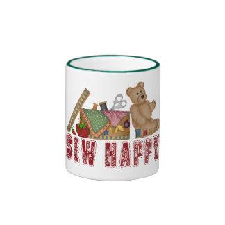 Sew Happy Ringer Mug