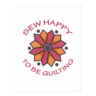 SEW HAPPY TO BE QUILTING POSTCARD