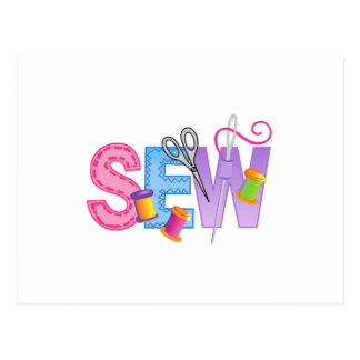 SEW MONTAGE POST CARD