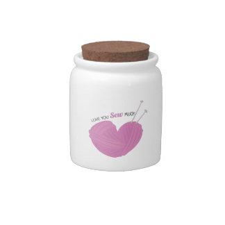 Sew Much Candy Jar