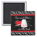 Sew Much Fabric 2 Inch Square Magnet