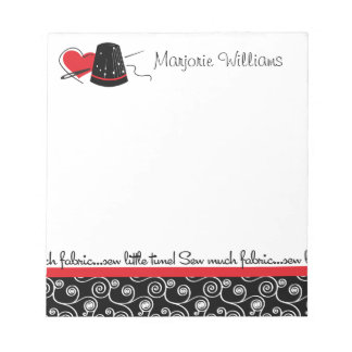 Sew Much Fabric Notepad