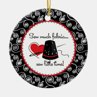 Sew Much Fabric Christmas Tree Ornaments