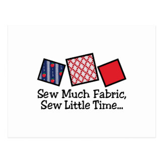 Sew Much Fabric Postcard
