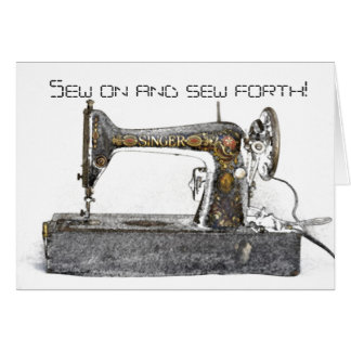 sew on and sew forth greeting card