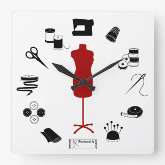 Sew Right Square Wall Clock