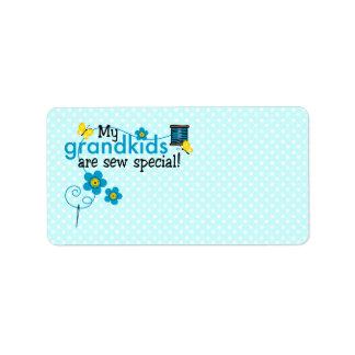 Sew Special Grandkids Label Address Label