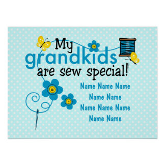 Sew Special Grandkids Personalized Poster