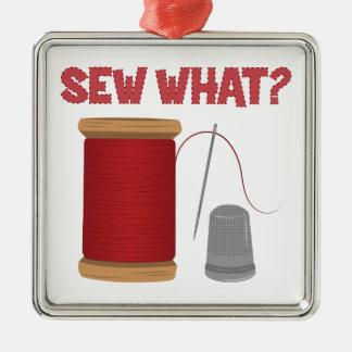 Sew What Metal Ornament