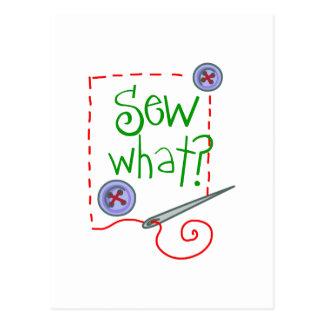 Sew What? Postcard