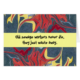 sewage workers humor greeting cards