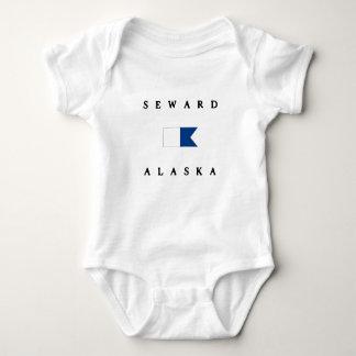 Seward Alaska Alpha Dive Flag T-shirt