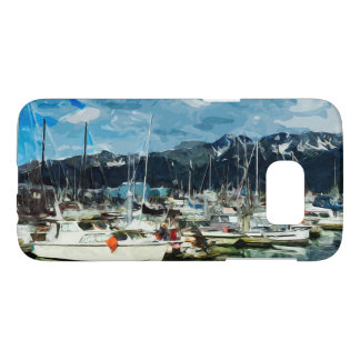 Seward Alaska Habor Abstract Impressionism Samsung Galaxy S7 Case