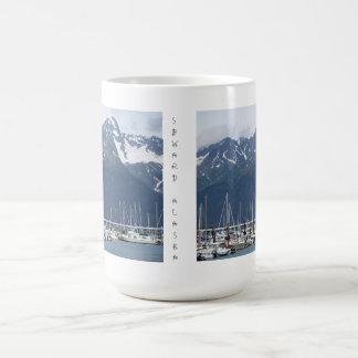 Seward, Alaska harbor sailboat mug