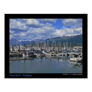 Seward, Alaska - Small Boat Harbor Poster