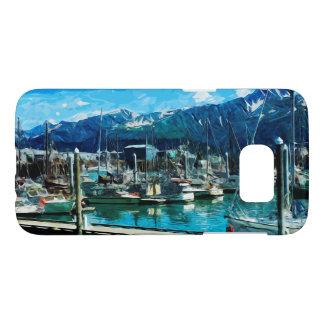 Seward Harbor Alaska Abstract Impressionism Samsung Galaxy S7 Case