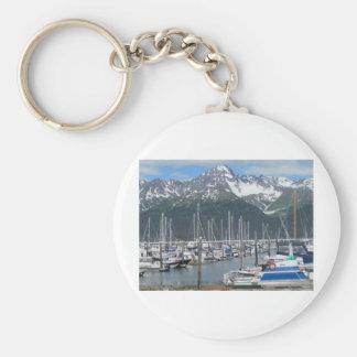 Seward Harbor, Alaska Keychain