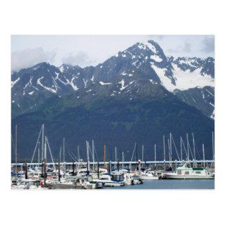 Seward Harbor in Alaska Postcard