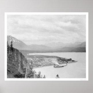 Seward panorama 1918 de Alaska Posters