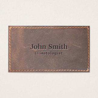 Sewed Leather Climatologist Business Card