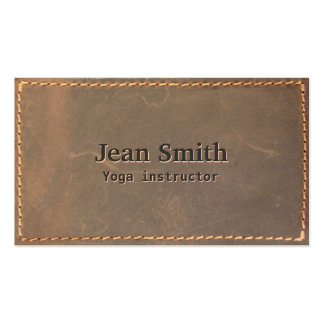 Sewed Leather Yoga instructor Business Card