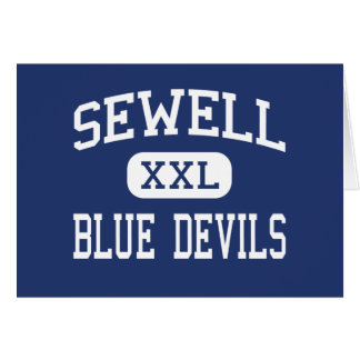 Sewell Blue Devils Middle Bremen Georgia Greeting Cards