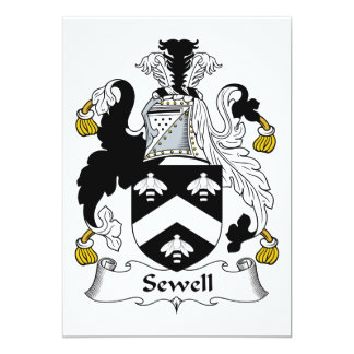 Sewell Family Crest Personalized Announcement