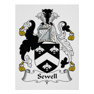 Sewell Family Crest Poster