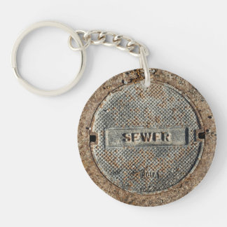 Sewer Cover for Manhole Keychain