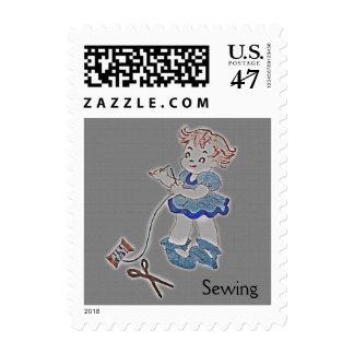 Sewer Girl Postage Stamp