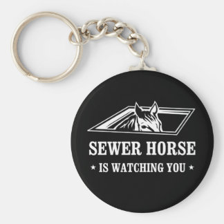 Sewer Horse is watching you Keychain