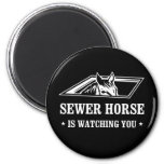 Sewer Horse is watching you Magnets