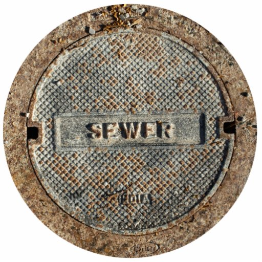 Sewer Manhole Cover Cut Outs