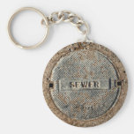 Sewer Manhole Cover Keychain