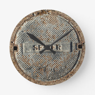 Sewer Manhole Cover Round Clock