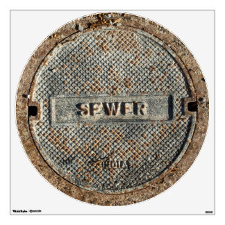 Sewer Manhole Cover Wall Skin