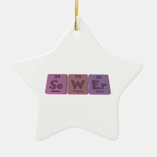 Sewer-Se-W-Er-Selenium-Tungsten-Erbium.png Ceramic Ornament