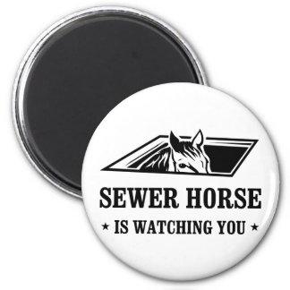SewerHorse1 2 Inch Round Magnet