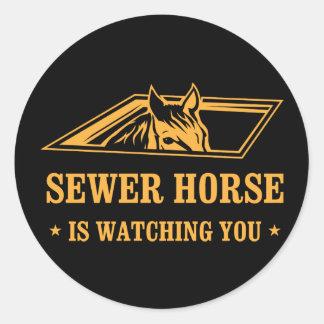 SewerHorse2 Classic Round Sticker