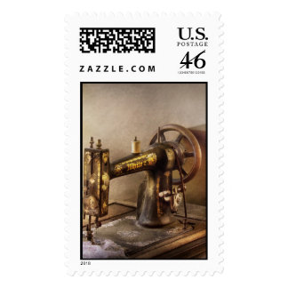 Sewing - A black white sewing machine Postage