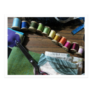 Sewing A Rainbow Postcard