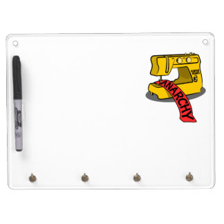 Sewing anarchy zazzle.png dry erase board with keychain holder