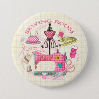Sewing Badge Button