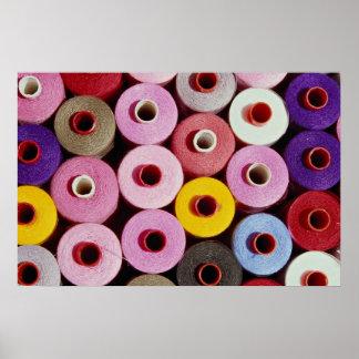 Sewing bobbins poster