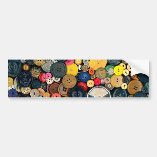 Sewing - Buttons - Bunch of Buttons Bumper Sticker