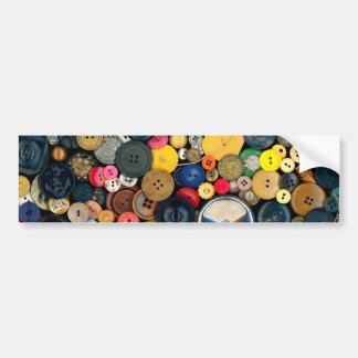 Sewing - Buttons - Bunch of Buttons Car Bumper Sticker