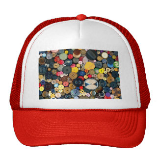 Sewing - Buttons - Bunch of Buttons Trucker Hats