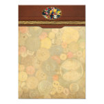 """Sewing - Buttons - Bunch of Buttons 5"""" X 7"""" Invitation Card"""