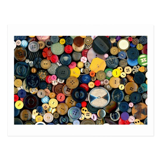 Sewing - Buttons - Bunch of Buttons Postcard