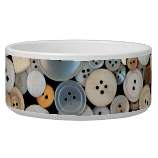 Sewing - Buttons - Lots of white buttons Bowl